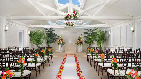 Indoor Weddings Tropicana Las Vegas